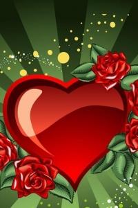 Vorschau Grünen Herzen Handy Logo