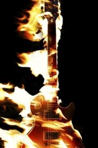 Vorschau Feuer-Gitarre Handy Logo