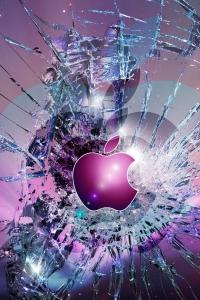 Vorschau Gebrochenen Display Apple Handy-Logo
