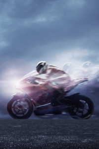 Vorschau Schnelles Motorrad Handy Logo