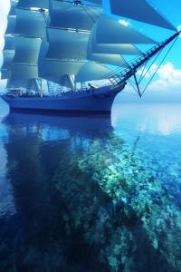 Vorschau Segelschiff Handy-Logo