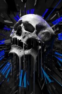 Vorschau Schmelzen Totenkopf Handy Logo