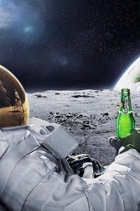 Vorschau Astronaut Bier trinken Handy Logo