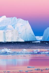 Vorschau Eisberge in der Arktis Handy Logo