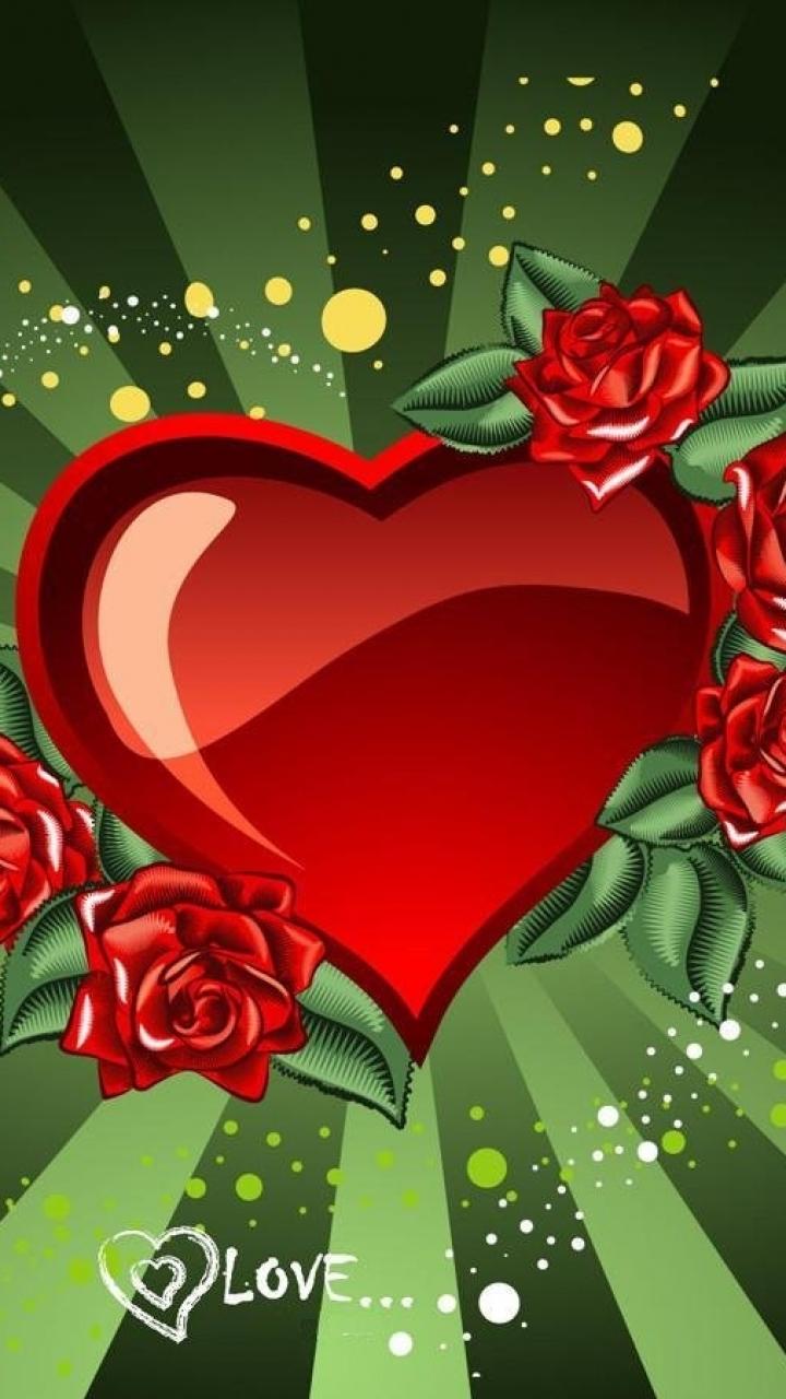 Grnen Herzen Handy Logo Kostenlos Hintergrundbild Auf